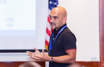 Dr Nirmal Shah attending a high level Oceans Conference in Mauritiues in 2016