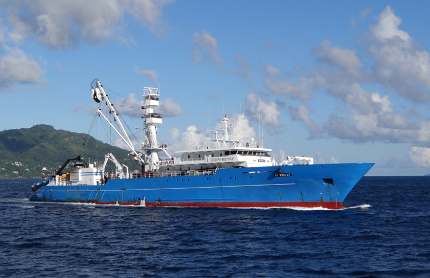 Fishing vessel on Seychelles waters file photo, Nature Seychelles