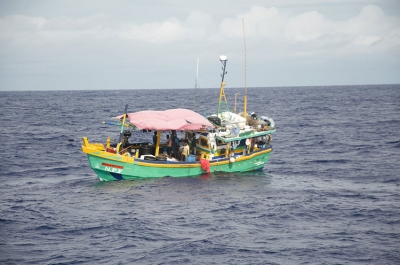 Sri Lankan illegal fishing vessel is the first to be intercepted in 2020