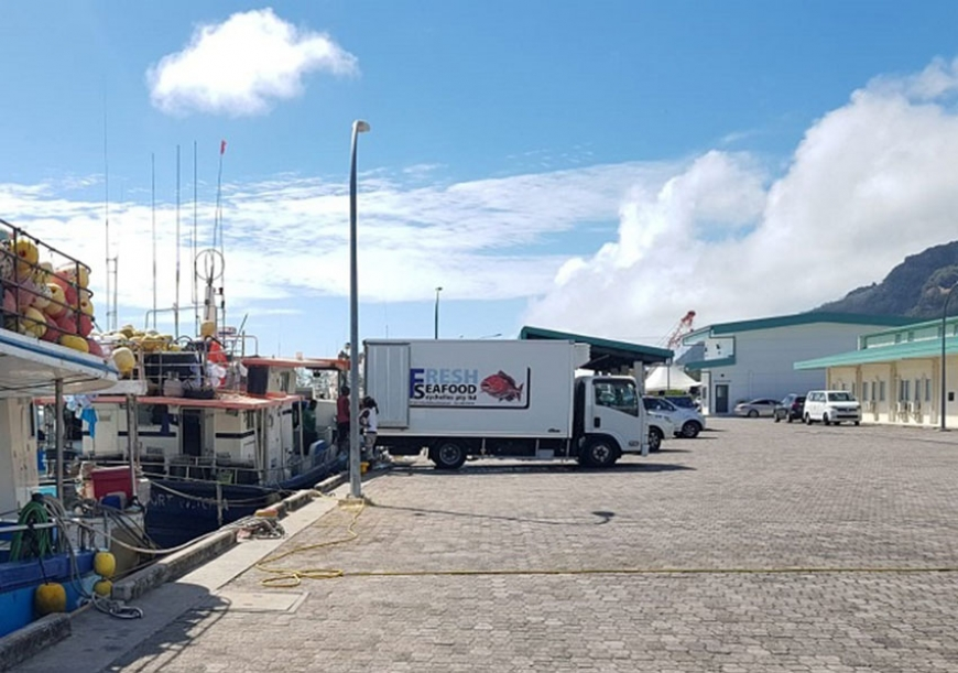 The completed phase two includes the expansion of 216 metres of quay, ten mooring buoys, a landing shed and a ten-tonne ice-making facility among others. (Seychelles News Agency)
