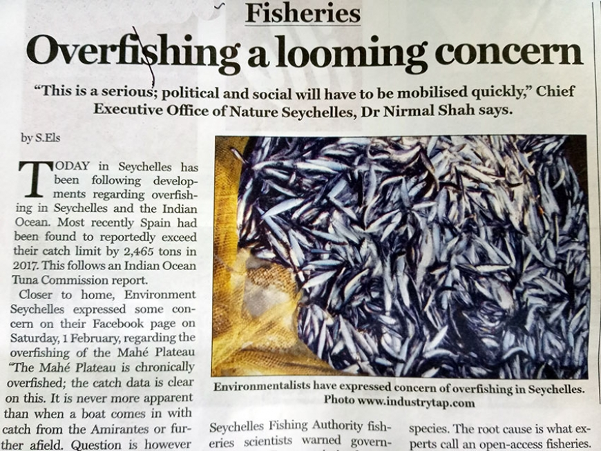 Today in Seychelles: Overfishing a looming concern