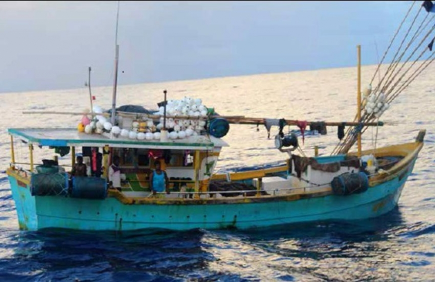 This Sri Lankan boat was spotted by fishermen on 17th April