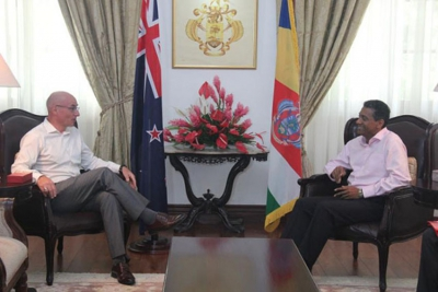 Ramsden said that the Commonwealth is important for both countries as it provides Seychelles and New Zealand with lines of work they can cooperate on closely (Patrick Joubert, Seychelles News Agency)