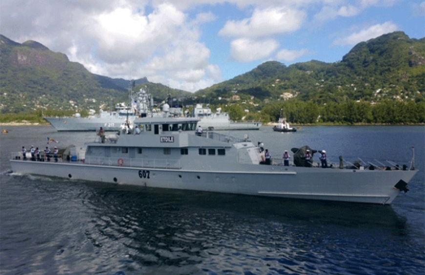 File Photo: Coast Guard Vessel 'Etoile' out at sea. The Seychelles archipelago in the western Indian Ocean has an exclusive economic zone of 1.3 million square kilometres around its 115 islands, a fact that makes detection of irregular and unlawful activities difficult. (Seychelles Coast Guard)